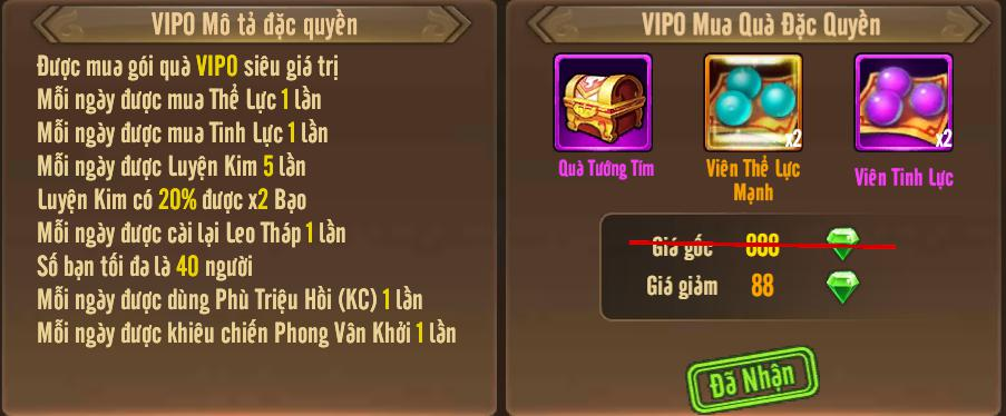[Tính Năng] Cấp VIP - Phúc Lợi VIP - 4