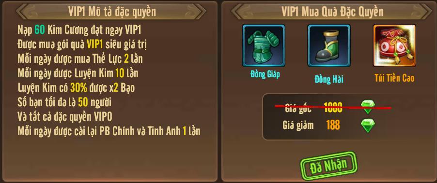[Tính Năng] Cấp VIP - Phúc Lợi VIP - 5