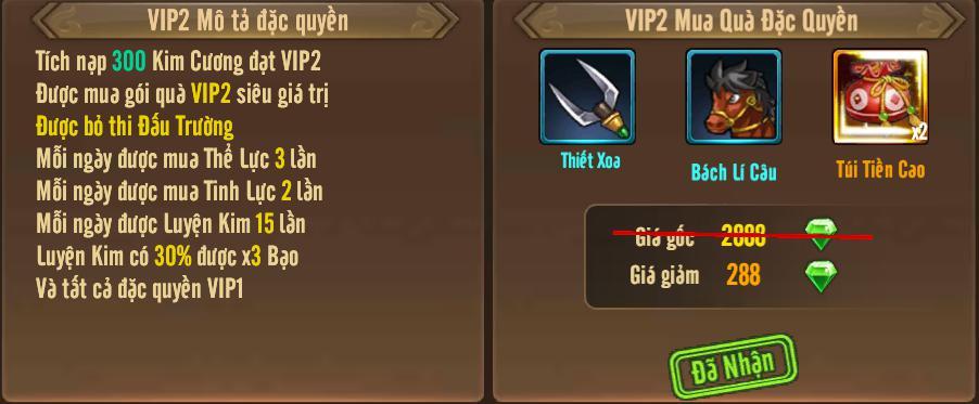 [Tính Năng] Cấp VIP - Phúc Lợi VIP - 6