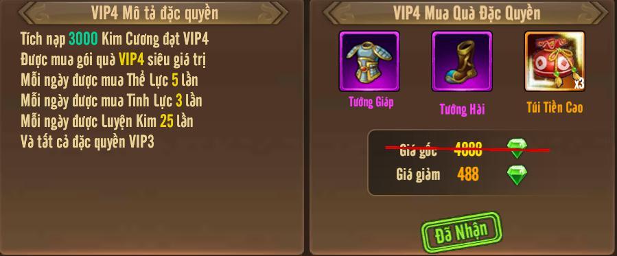 [Tính Năng] Cấp VIP - Phúc Lợi VIP - 8