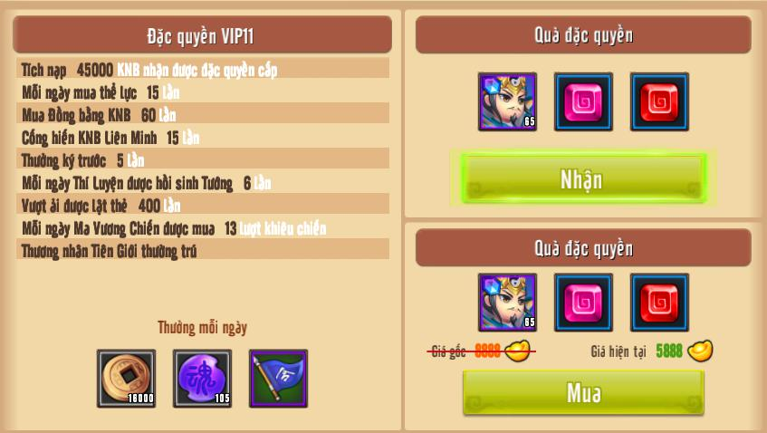 [Giới Thiệu] Cấp VIP - Phúc Lợi VIP - 15