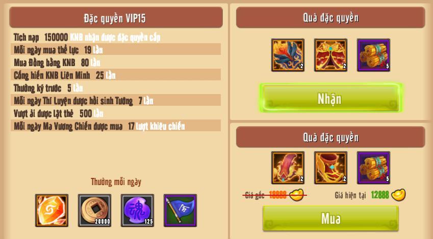 [Giới Thiệu] Cấp VIP - Phúc Lợi VIP - 2