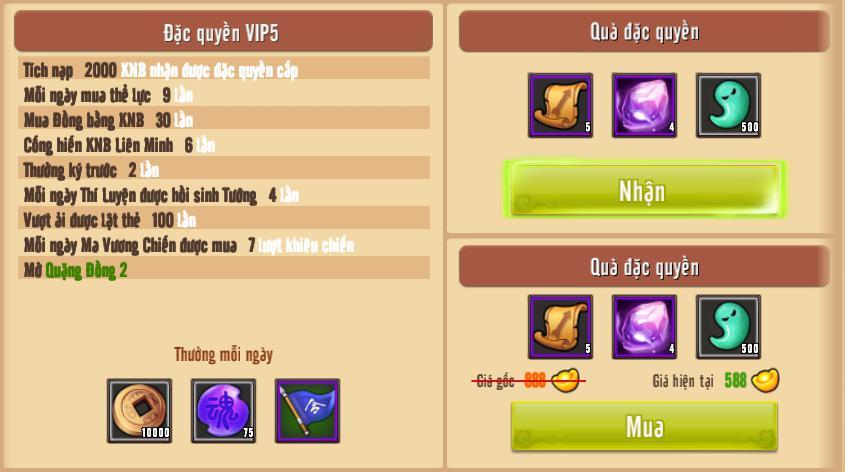 [Giới Thiệu] Cấp VIP - Phúc Lợi VIP - 9