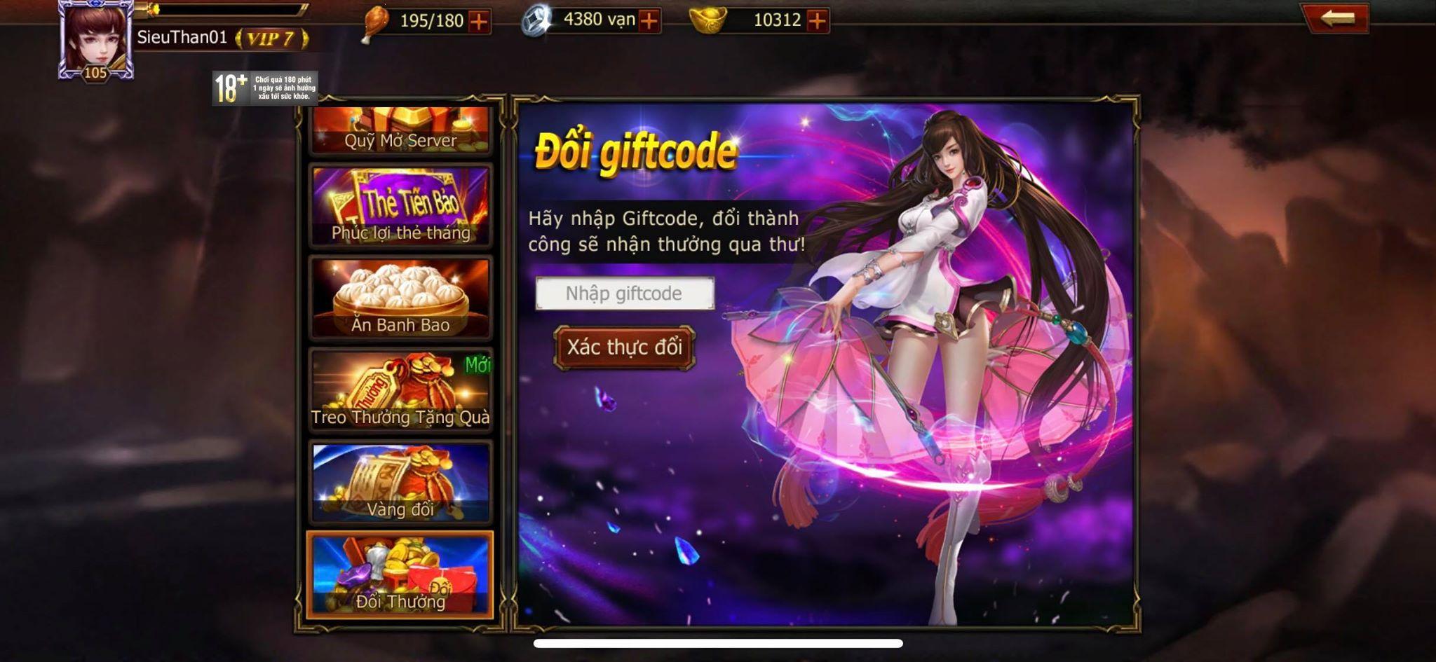 [Hướng dẫn] Nhập Giftcode nhận quà hấp dẫn - 3