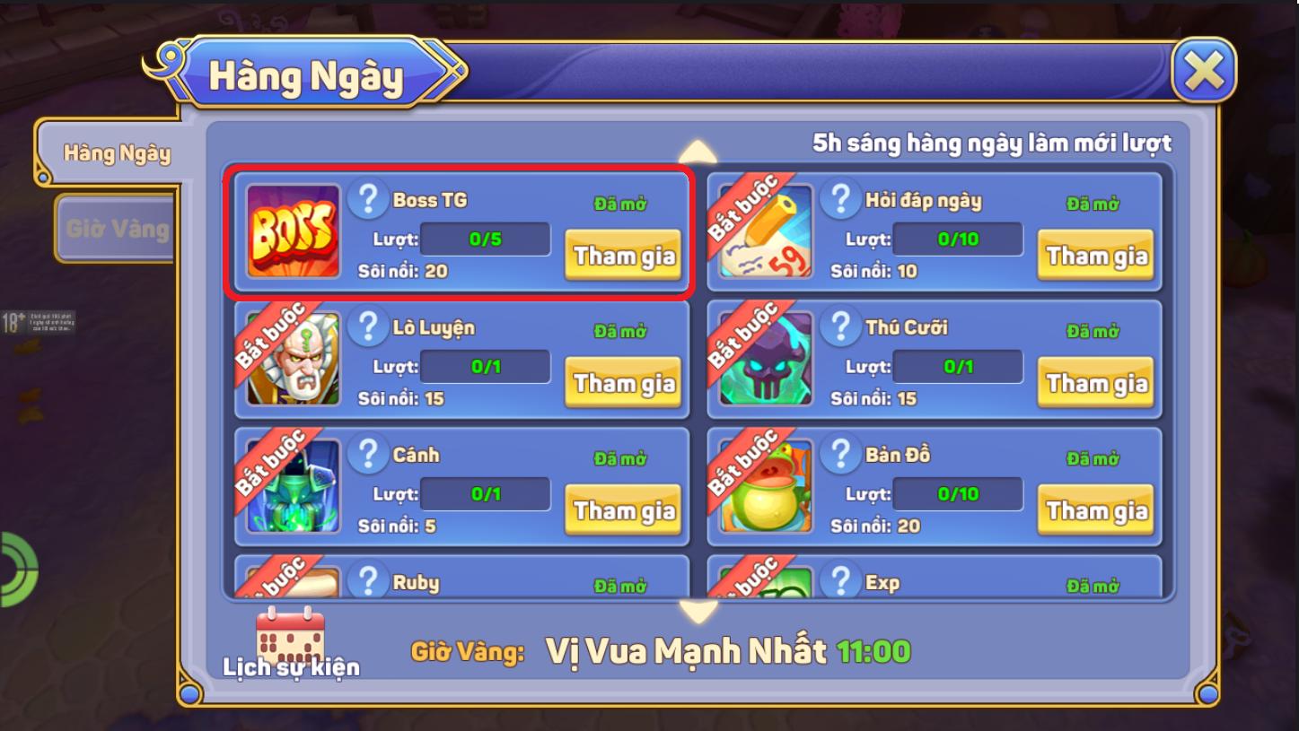 [Hoạt Động - PVP & PVE] Khiêu Chiến Boss - 2