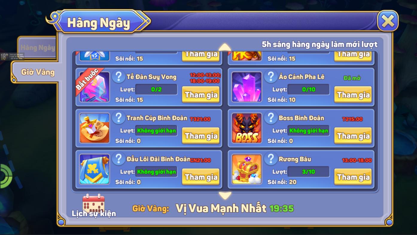 [Hoạt Động - PVE] Rương Báu và Điện Anh Linh - 1
