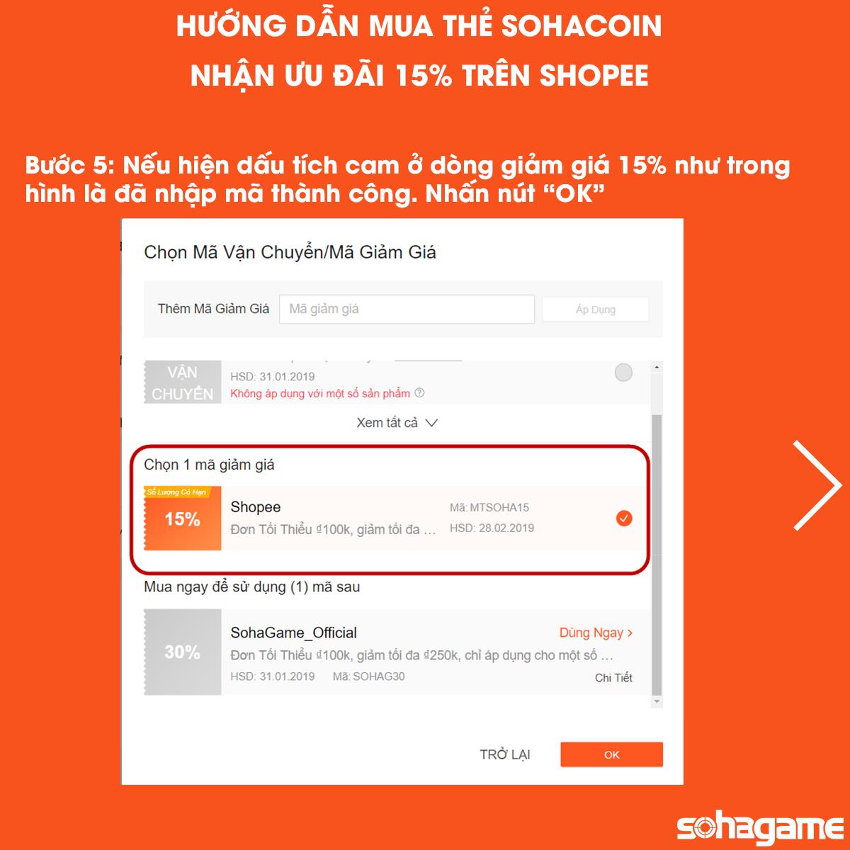 GIẢM 15% KHI MUA THẺ SOHACOIN TRÊN SHOPEE - 7