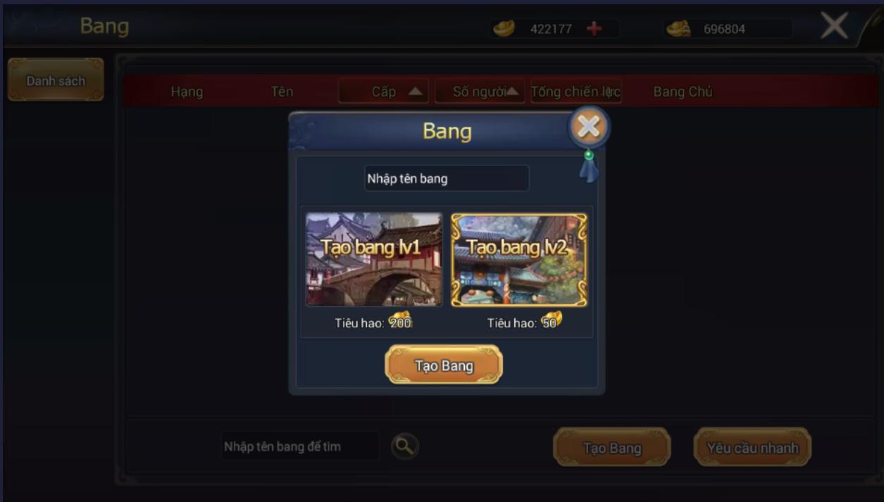 HỆ THỐNG BANG HỘI - 1