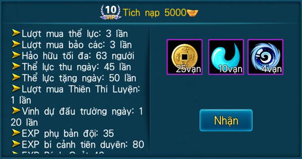 [Hệ Thống] - VIP - Thần Kiếm 3D - 10