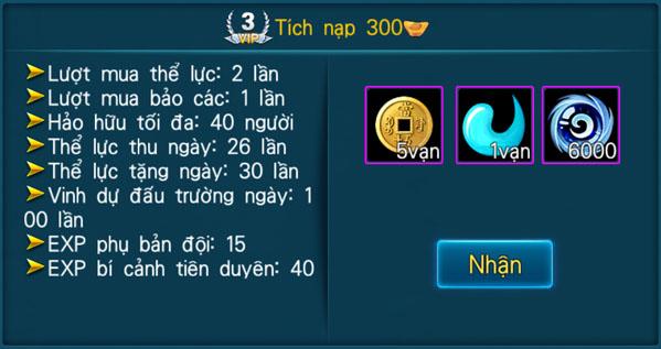 [Hệ Thống] - VIP - Thần Kiếm 3D - 3