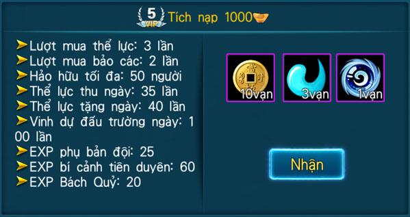 [Hệ Thống] - VIP - Thần Kiếm 3D - 5