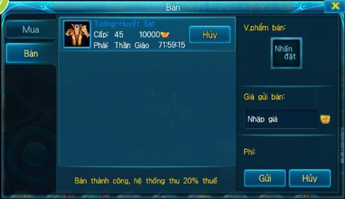 [Tính Năng] - Đấu Giá - Thần Kiếm 3D - 2