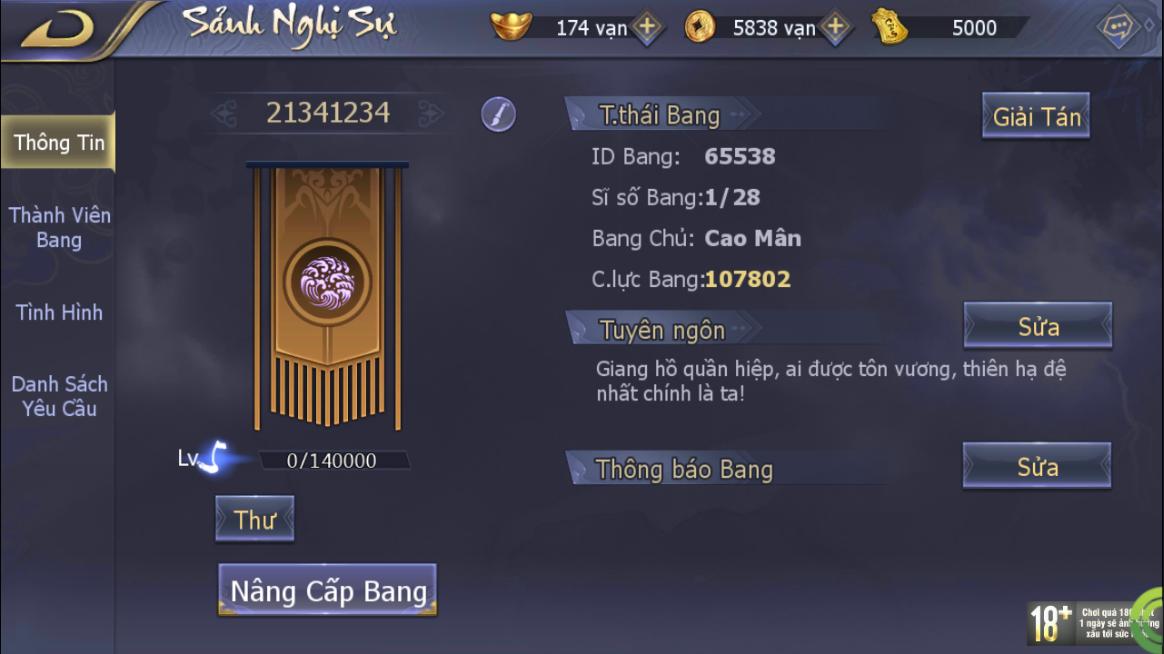 [TÍNH NĂNG] Bang Hội - 1