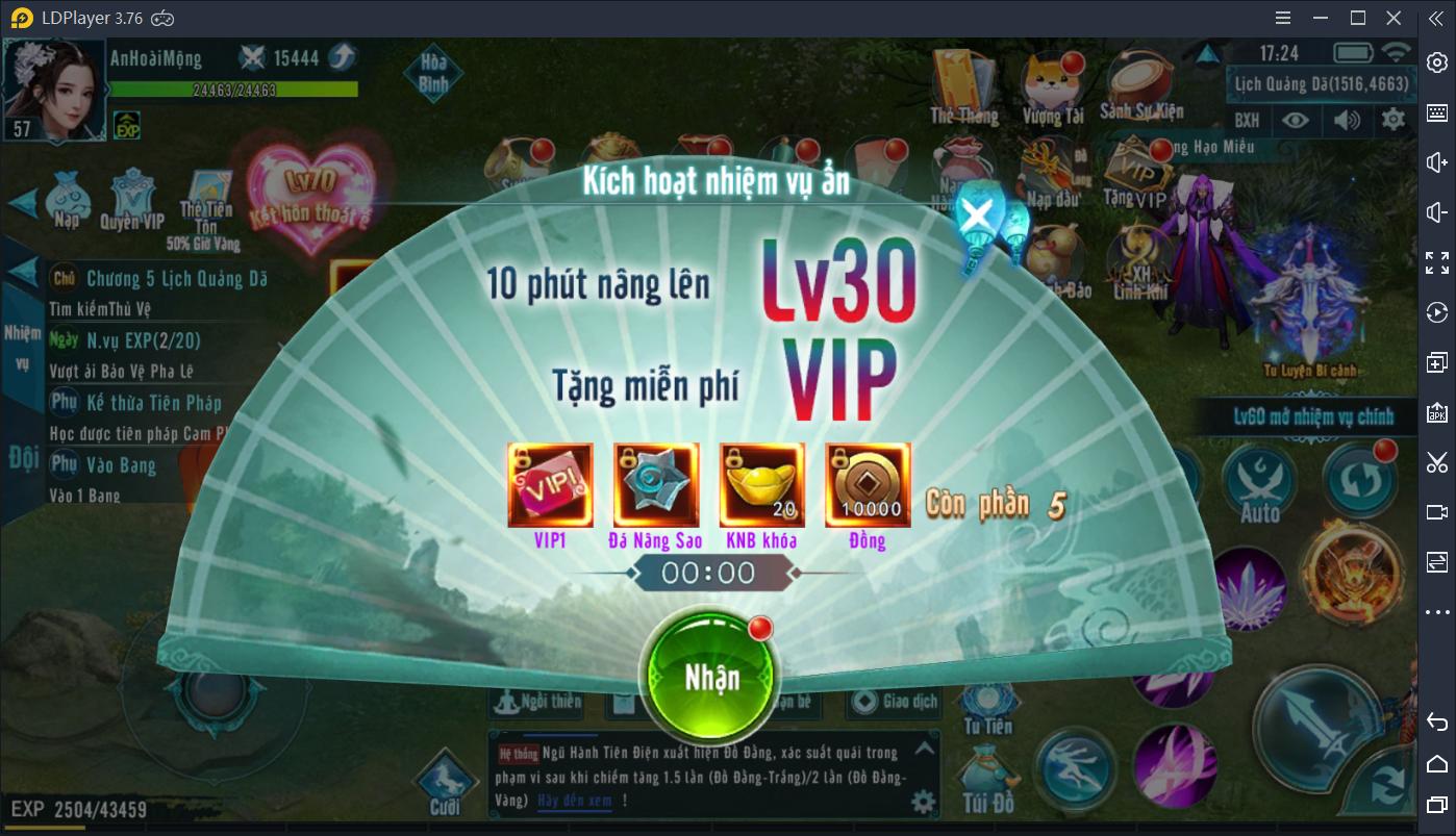 Kích Hoạt Nhiệm Vụ Ẩn Tặng VIP 1 - 1