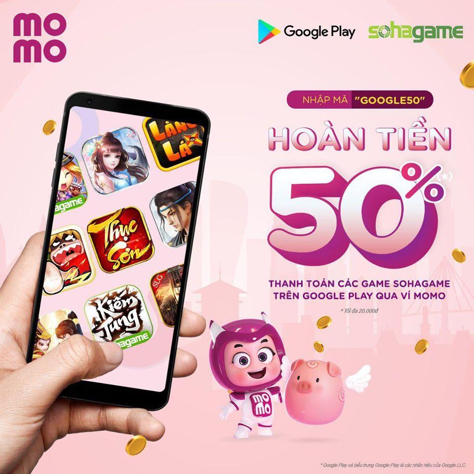NẠP GAME QUA GOOGLE PLAY - HOÀN TIỀN 50%
