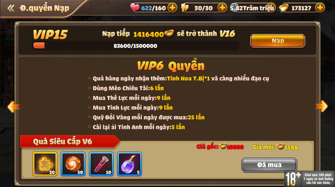 [Hướng Dẫn] Hệ Thống VIP Tam Quốc Tốc Chiến - 10