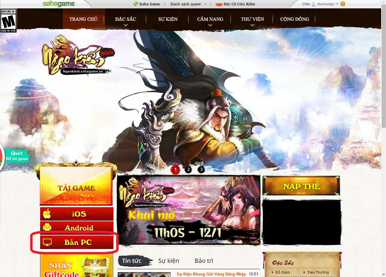 Hướng dẫn download game trên PC - 1
