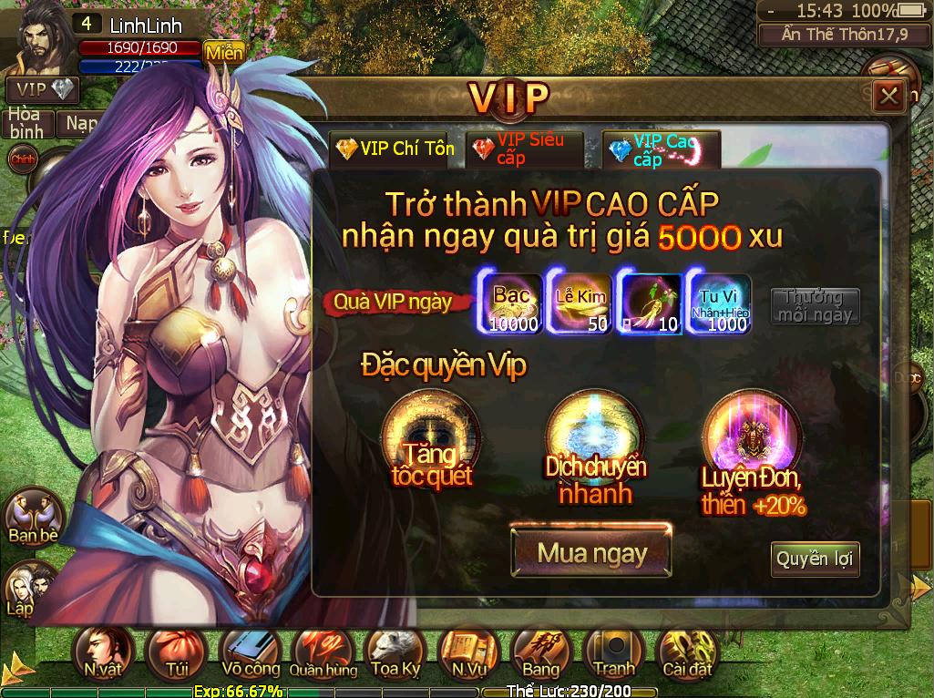 Thông báo về các mức VIP - 2