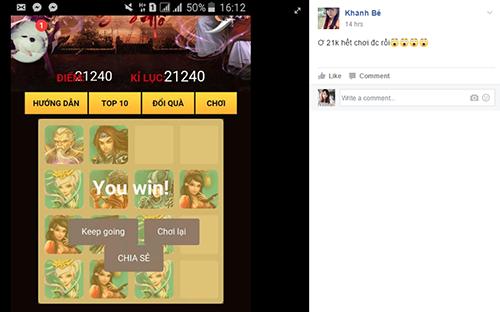 """Cùng """"khoe"""" số điểm kỷ lục trong minigame Landing Mộng Võ Lâm 2 - 3"""