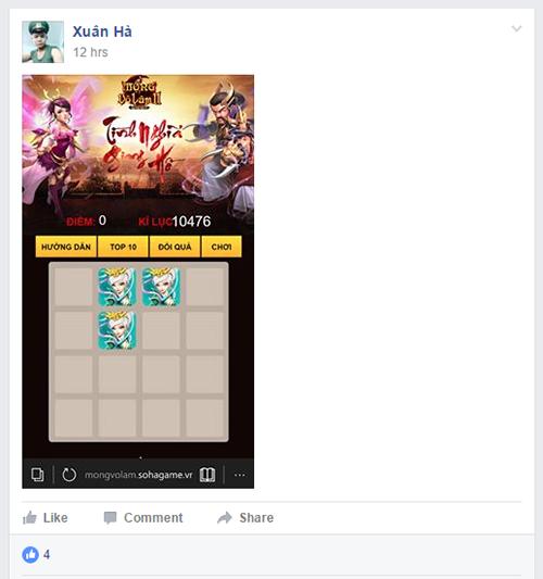"""Cùng """"khoe"""" số điểm kỷ lục trong minigame Landing Mộng Võ Lâm 2 - 4"""