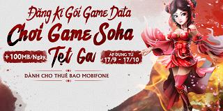 MOBIFONE RA MẮT GÓI CƯỚC GAME DATA 2K DÀNH CHO GAMER SOHAGAME
