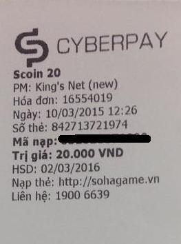 Thẻ Scoin đã có mặt tại các phòng máy có CyberPay - Tặng 10% giá trị - 7