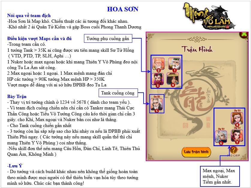 HƯỚNG DẪN VƯỢT MAP HOA SƠN - 1