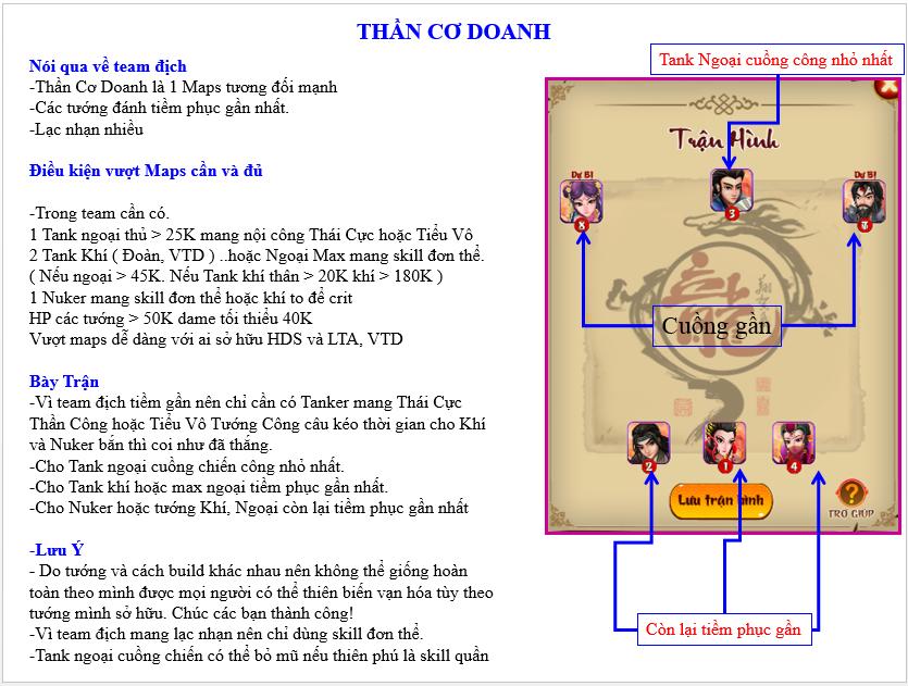 HƯỚNG DẪN VƯỢT MAP THẦN CƠ DOANH - 1