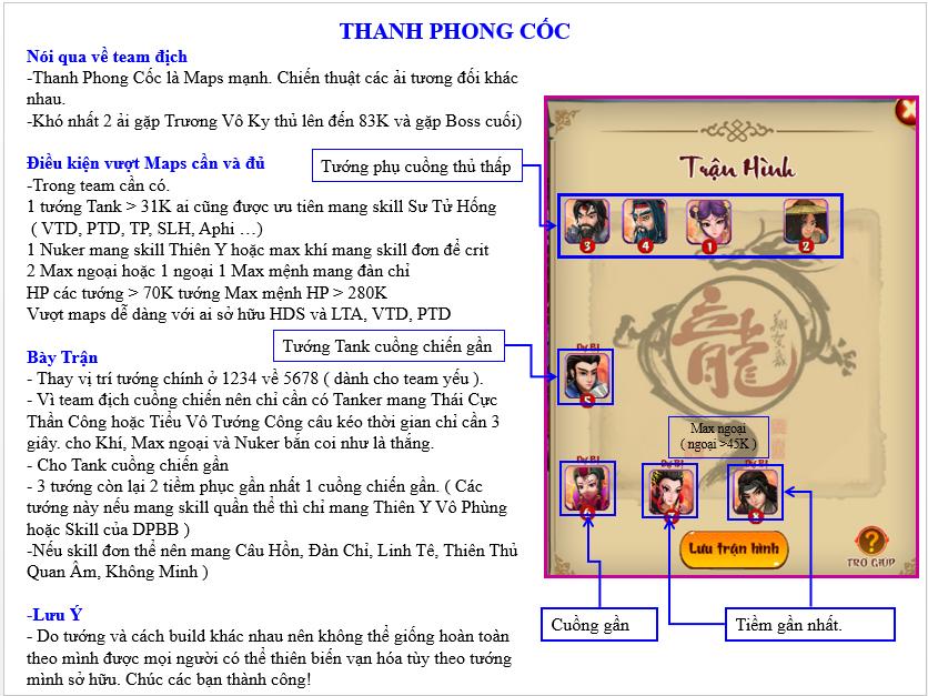 HƯỚNG DẪN VƯỢT MAP THANH PHONG CỐC - 1