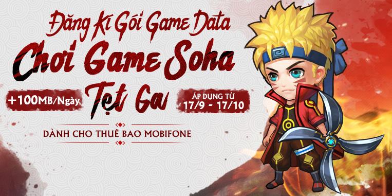 HOT - GÓI CƯỚC 3G DÀNH RIÊNG CHO GAME THỦ MANGA GO