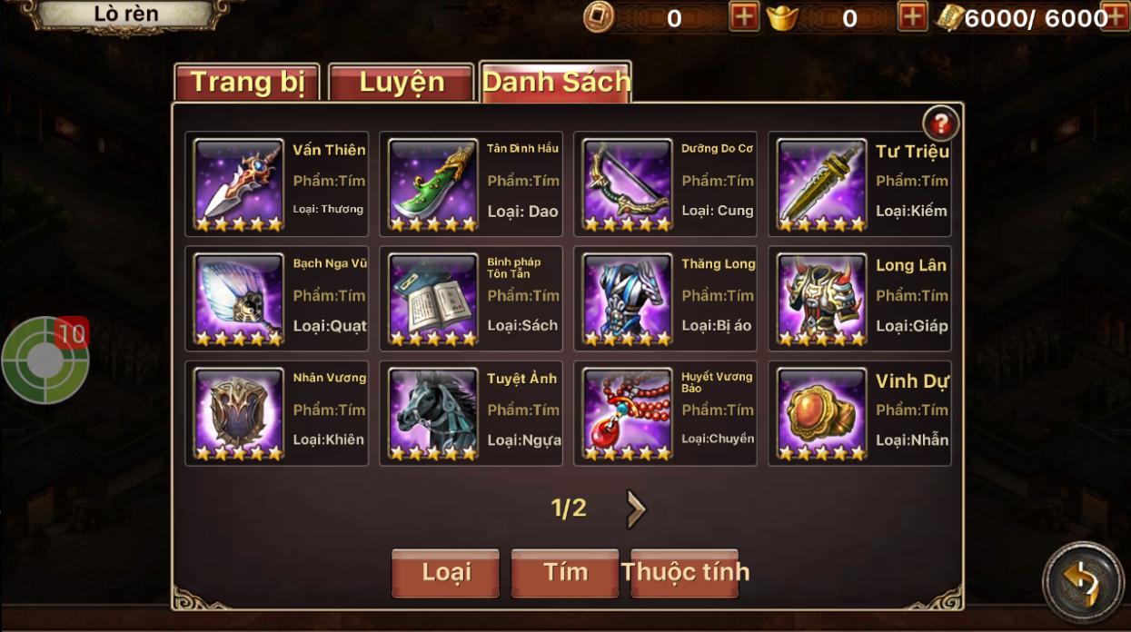 Chi tiết bản cập nhật 3.0 - Tam Quốc Thần Binh - 5