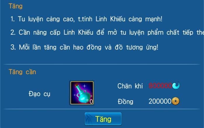 [Tính năng - Game 3D Độc Cô Cầu Bại] Tu Tiên - 3