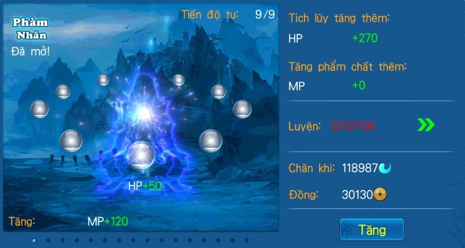 [Tính năng - Game 3D Độc Cô Cầu Bại] Tu Tiên - 2