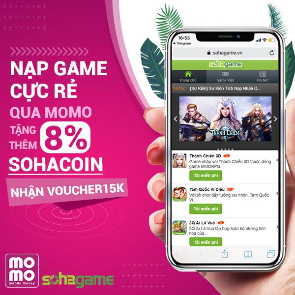 [Cực Hot] Mua SohaCoin Cực Dễ - Nạp Game Cực Rẻ Qua Ví MoMo - 1