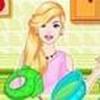 Game Barbie làm bánh táo