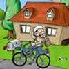 Game Lái xe đạp phát báo