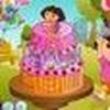 Game Dora làm bánh sinh nhật