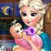 Game Elsa chăm sóc em bé