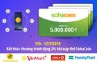[Tin Tức] Kết thúc chương trình khuyến mãi khi nạp thẻ SohaCoin từ 12/9