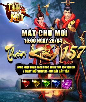 [Thông Báo] - Khai mở máy chủ Thần Kiếm 157 ngày 28/04