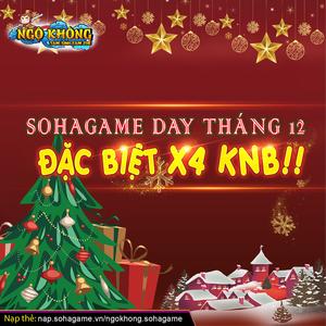 [SỰ KIỆN HOT] SOHAGAME DAY X4 KNB!