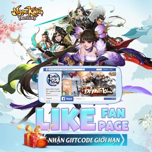 [EVENT] LIKE PAGE NHẬN CODE GIỚI HẠN 300K