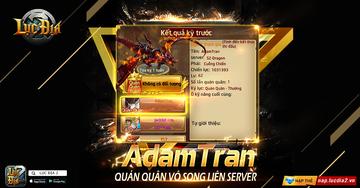 [Góc Vinh Danh] AdamTran - Quán Quân Vô Song Top 1 Liên Server