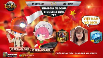 [Sự Kiện] HÒA CHUNG KHÔNG KHÍ TRẬN BÓNG VIỆT NAM - INDONESIA