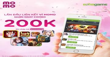 [Ưu Đãi Khủng] Lần đầu liên kết ví Momo nhận ngay combo 200K