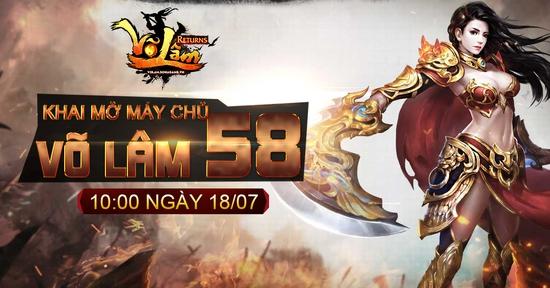 [Thông Báo] - Võ Lâm Returns Khai mở Võ Lâm 58