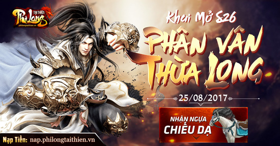 [Thông Báo] Khai Mở máy chủ - Phân Vân Thừa Long 10h (25/08)